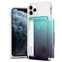 Чехол VRS Design Damda Glide Shield для iPhone 11 Pro Max White Green - Purple