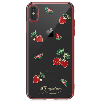 Чехол Kingxbar Tropical для iPhone Xs Max Strawberry